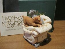 Harmony Kingdom Danger's Darlings Dogs Uk Made Marble Resin Box Figurine Sgn