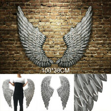 UK 40'' Large Rustic Angel Wing Wall Mount Hanging Art Home Living Bedroom Decor