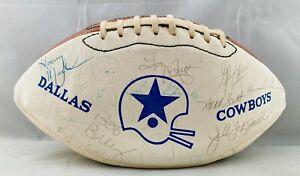 Dallas Cowboys Team Signed Football 1981 Dorsett Martin Johnson White Newhouse