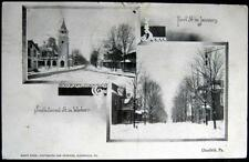 CLEARFIELD PA~1912  First Street in January ~ South Second Street in Winter ~