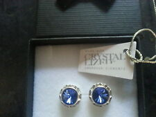 Genuine Swarovski Elements Blue Sapphire Crystal Stud Earrings 13mm
