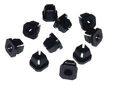 62-90 GM Black Dash Headlight Bezel Trim Moulding Screw Nylon Nuts Clips 10pcs
