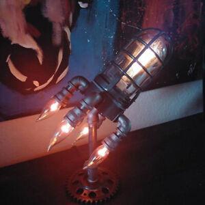 3D Steampunk Space Shuttle Rocket Night Light LED Table Desk Lamp Home Decor