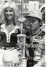 "Kenny Roberts Yamaha Signed Photo 12x8 Superbikes World Champion 12x8"" AD"