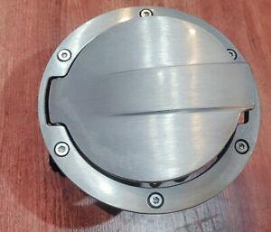 OEM 2010-2013 Kia Soul Accessory Brushed Aluminum Fuel Filler Door pn U84702K000