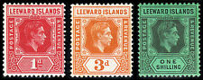 Leeward Islands Scott 105a, 109a, 111a (1942) Mint H VF, CV $35.40