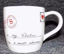 Starbucks Coffee Mug Cup To My Valentine From A Secret Admirer 2010 Bone China