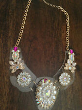 Crystal Acrylic Pear Costume Necklaces & Pendants