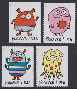 US 5636-5639 Message Monsters forever set (4 stamps) MNH 2021