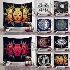 Psychedelic Sun Moon Mandala Boho Throw Tapestry Blanket Rug Wall Hanging Decor