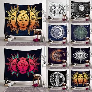 Moon God Tarot Hippie Tapestry Indian Mandala Wall Hangings Throw Blanket Mat!