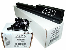AEM High Volume Fuel Rail + Adj Pressure Regulator for Civic Del Sol B16A2 B16A3