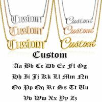 Stainless Steel Customized Name Letter Pendant Necklace Personalized Gold Choker
