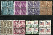 U.S. Regular issue stamps blocks of 4 - 8 issues - set #9