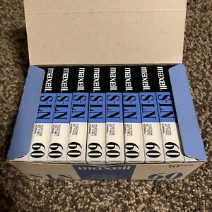 Lot Of 10 MAXELL S-LN 60 Min Cassette Tape