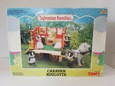 Sylvanian Families Caravan Roulotte Tomy 1989 Calico Critters w/ Accessories Box