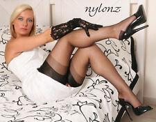 Eleganti RHT Stockings / Nylons - BLACK - imperfects - NYLONZ