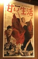 manifesto cinema Fellini La Dolce Vita In Giapponese Grande Formato mm.1560x970