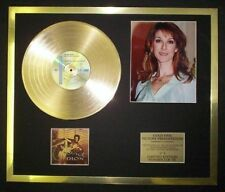 CELINE DION PHOTO / PIC CD GOLD DISC RECORD FREE P+P