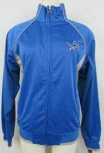 Detroit Lions Womens Size S M or L Embroidered Full Zip Track Jacket ALIO 106