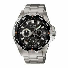 NEW Casio MTD-1069D-1A Mens 100M Stainless Steel Diver Sports Watch Multi-Dial