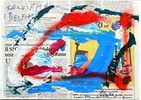 Antonio Maragnani - Tecnica mista su cartone, opera originale del 2019