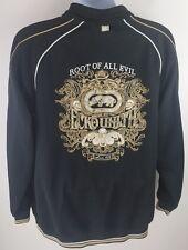 Ecko Unltd Men's Full Zip up Jacket Coat Black Size Large Root Of All Evil Skull