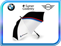 New BMW Genuine M-Motorsport Umbrella Black White 1.3 Meter 80232461135