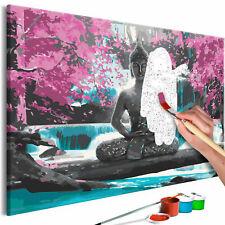 Malset mit Holzrahmen 60x40 Leinwand Erwachsene Gemälde Kit DIY n-A-0223-d-a