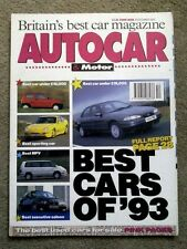 AUTOCAR MAGAZINE 29-DEC-93 - A review of the best cars of 1993