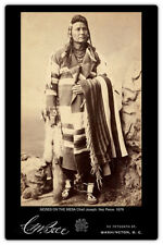 CHIEF JOSEPH Moses of the Mesa Nez Perce 1879 Vintage Photograph Cab Card