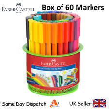 FABER CASTELL SET OF 60 FELT TIP CONNECTOR PENS -GIFTBOX- Artist & Craft Markers
