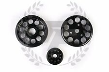 Honda S2000 AP1 AP2 Light Weight Aluminum Pulley Kit Black F20C F22C