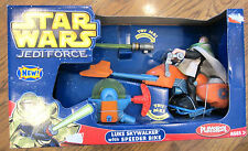 Star Wars 2004 Playskool Jedi Force Luke Skywalker with Speeder Bike