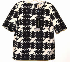 Weekend MaxMara Hounds Tooth Print Top, Size Italy 46