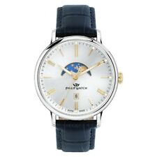 Orologio Philip Watch Truman fasi lunari blu - 41 mm R8251595001