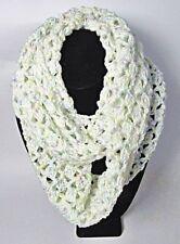 NWOT Crochet White,Blue,Lav,Yell Infinity,Sport Wt. Ombre Acrylic Yarn 9 x 58