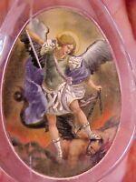ARCHANGEL St MICHAEL Saint Medal KEY CHAIN, KEY RING Acrylic Protection