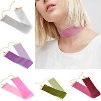 Charm Velvet Wide Choker Punk Handmade Ribbon Necklace Gothic Retro Jewelry