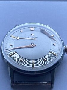 Vintage UNIVERSAL GENEVE Cal. 1005 Stainless Steel Watch Serviced
