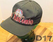 SAN ANTONIO TEXAS HAT BLACK SNAPBACK ADJUSTABLE EMBROIDERED VERY GOOD COND D17
