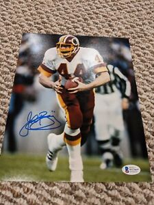 JOHN RIGGINS SIGNED ~ WASHINGTON REDSKINS 8X10 PHOTO ~ BECKETT HOLOGRAM