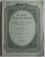 CLASSIC ITALIAN SONGS Volume 2 SONG BOOK Piano Vocal DITSON