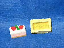 Strawberry Cream Cake Silicone Push Mold #36 For Resin Clay Candy Fondant Soap