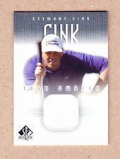 Stewart Cink 2001 SP Authentic RookieTour Shirt Swatch card #SC-TS-NrMT-MT(BV$8)