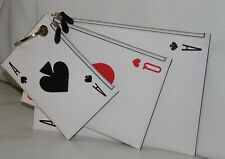 💚 KATE SPADE Lucky Cards Leather Triple Pouch Wristlet Clutch Casino Bag Purse