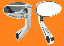 Handlebar Mounted Mirror Chrome Ferrara Streetfighter Plated Universal New
