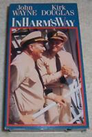 In Harm's Way VHS Video John Wayne Kirk Douglas