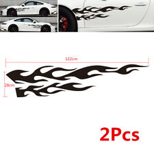 2X Universal Large Flame Graphic Car Truck Body Decal Sticker Waterproof Flexble