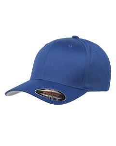 FLEXFIT Original Twill Fitted CLASSIC Hat Plain Blank 6-Panel Cap